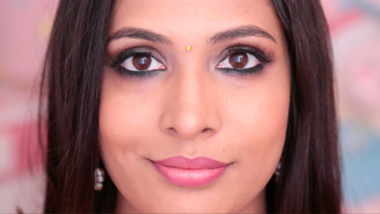Bollywood Inspired Makeup Look | Brown Smokey Eyes - YouTube