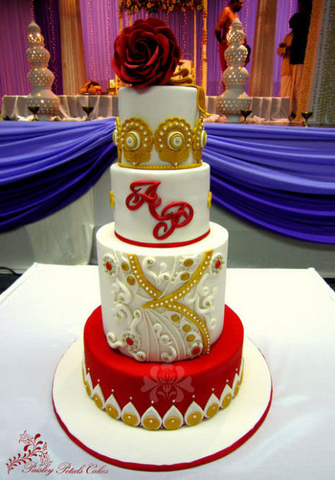Bollywood Inspired Wedding Cake - cake by Paisley Petals ...