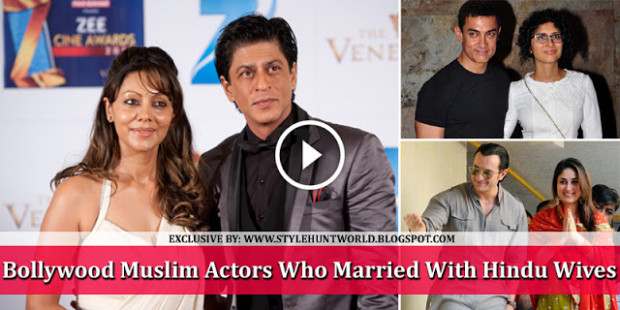 Bollywood Muslim Actors Who Married With Hindu Wives