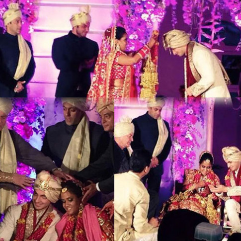 bollywood salman khan sister arpita marriage celebratin ...