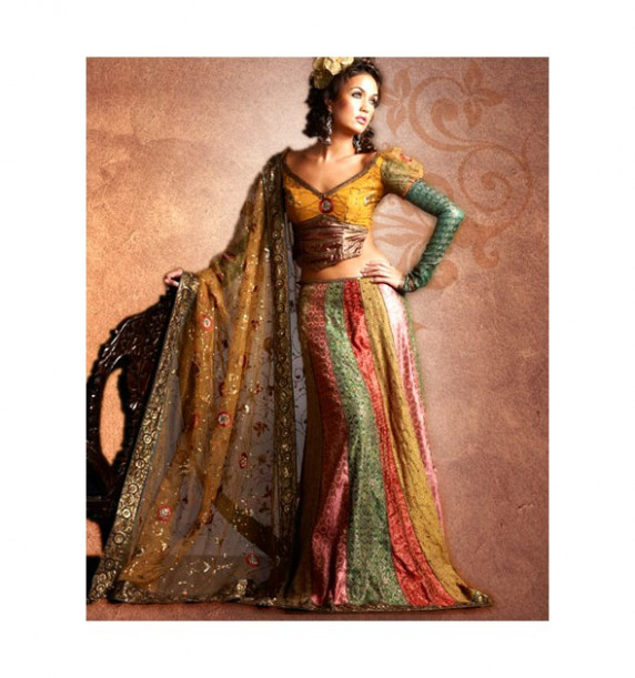 Bollywood Sarees - Multi Color Gorgeous Dance Dazzling ...