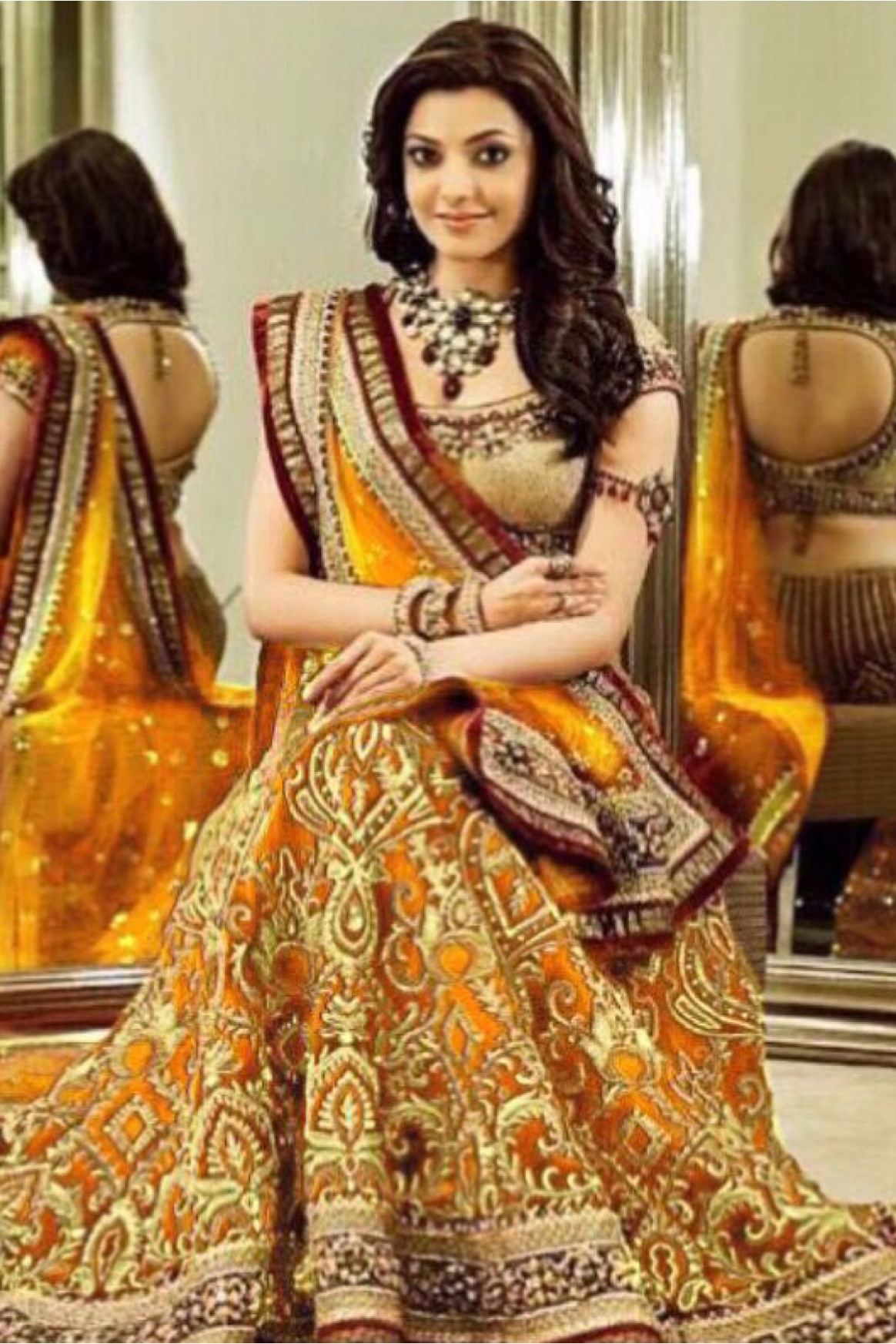 Bollywood Style Kajal Aggarwal Georgette Bridal Wear ...