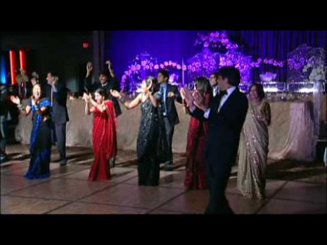 Bollywood-Style Wedding Reception Entrance Dance - YouTube