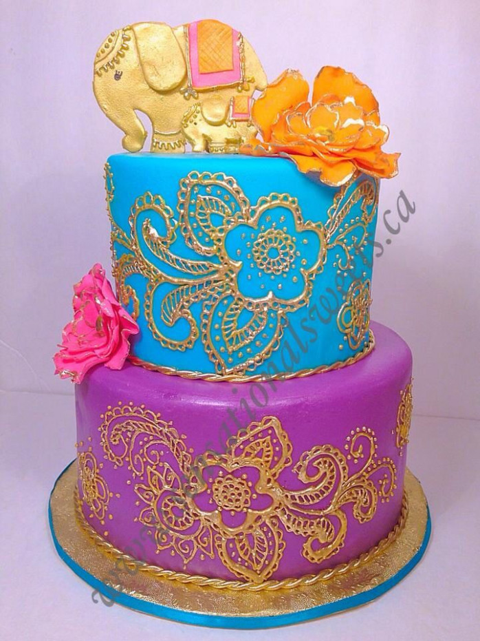 Bollywood theme baby shower cake | Sensationalsweets.ca ...