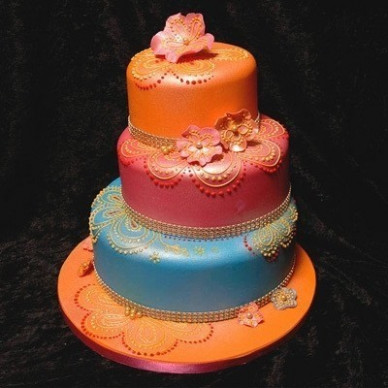 Bollywood Wedding Cake · How To Bake A Tiered Cake ...