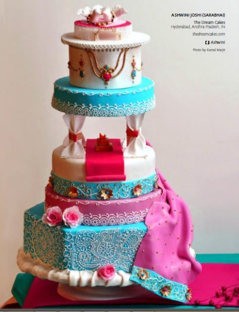 Bollywood wedding cake - cake by Ashwini Sarabhai - CakesDecor