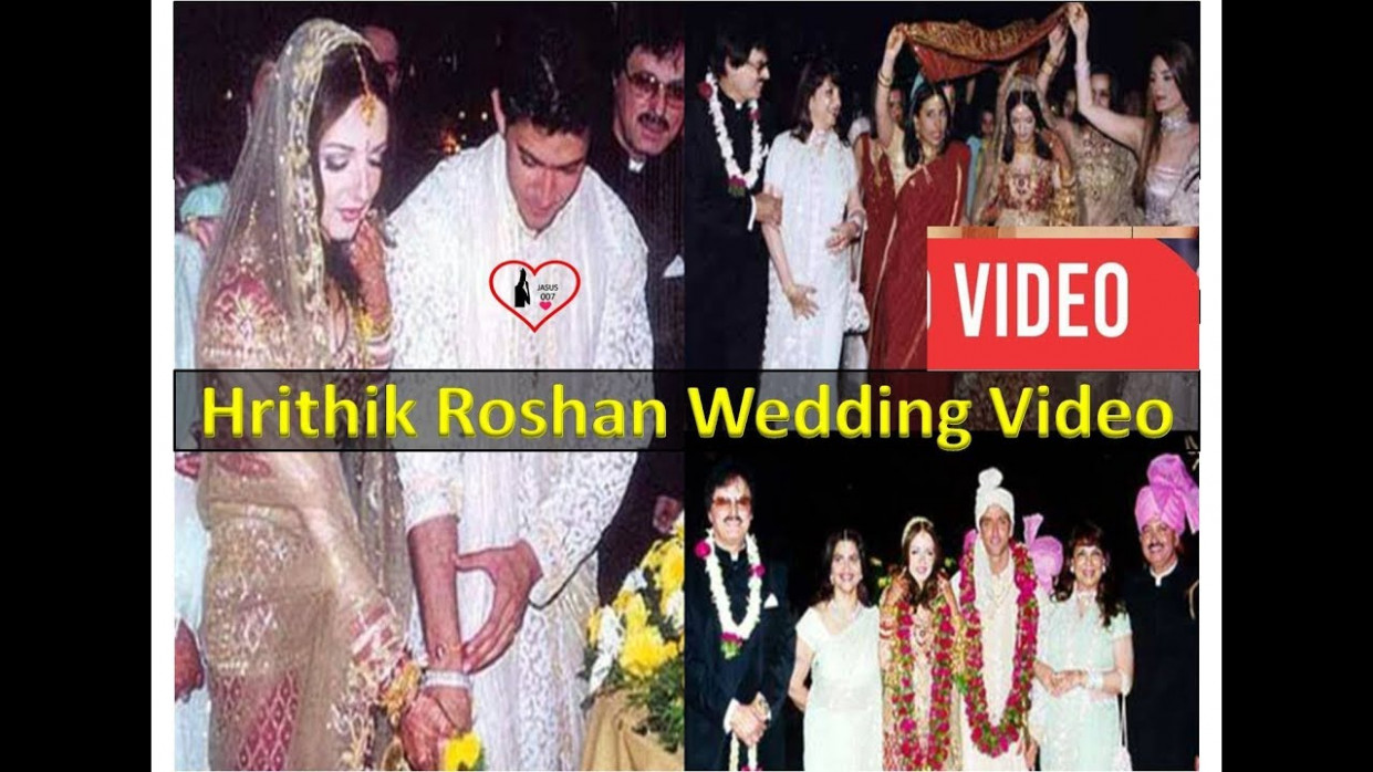 Bollywood WEDDING video.Hrithik and Suzanne khan Roshan ...