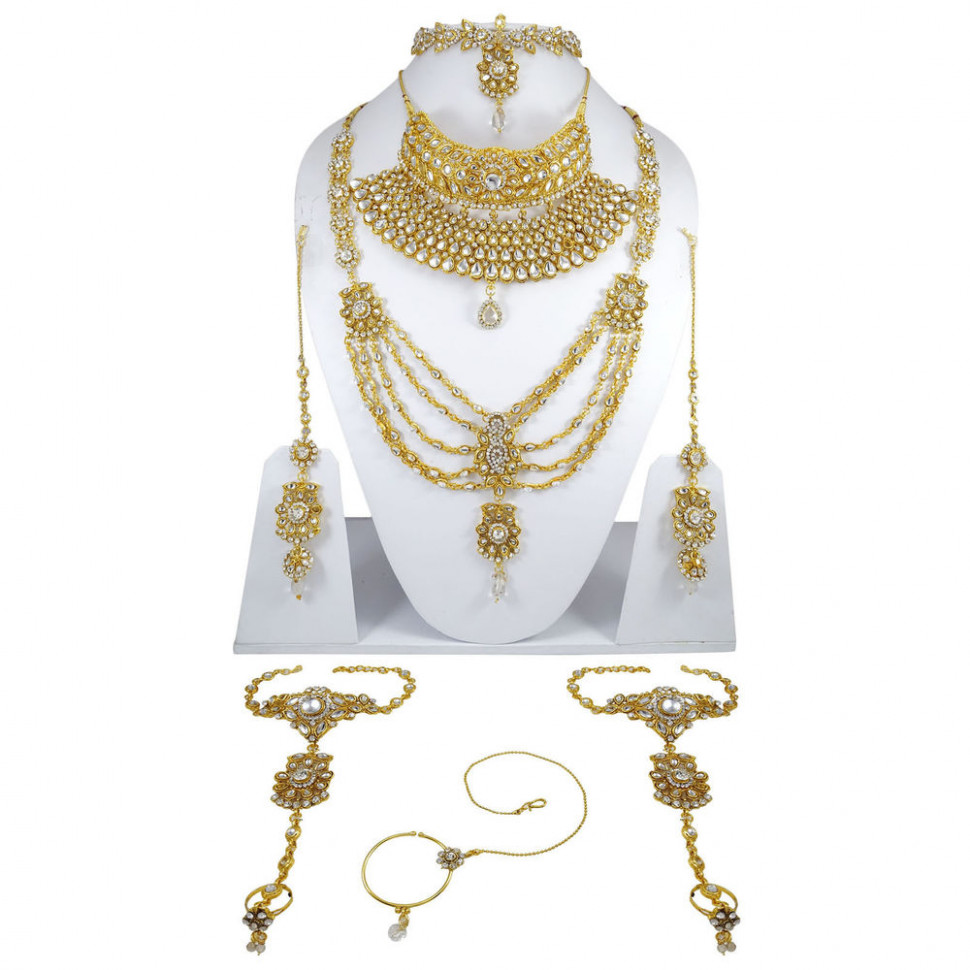 Bridal Bollywood Necklace Set Traditional Wedding Indian ...