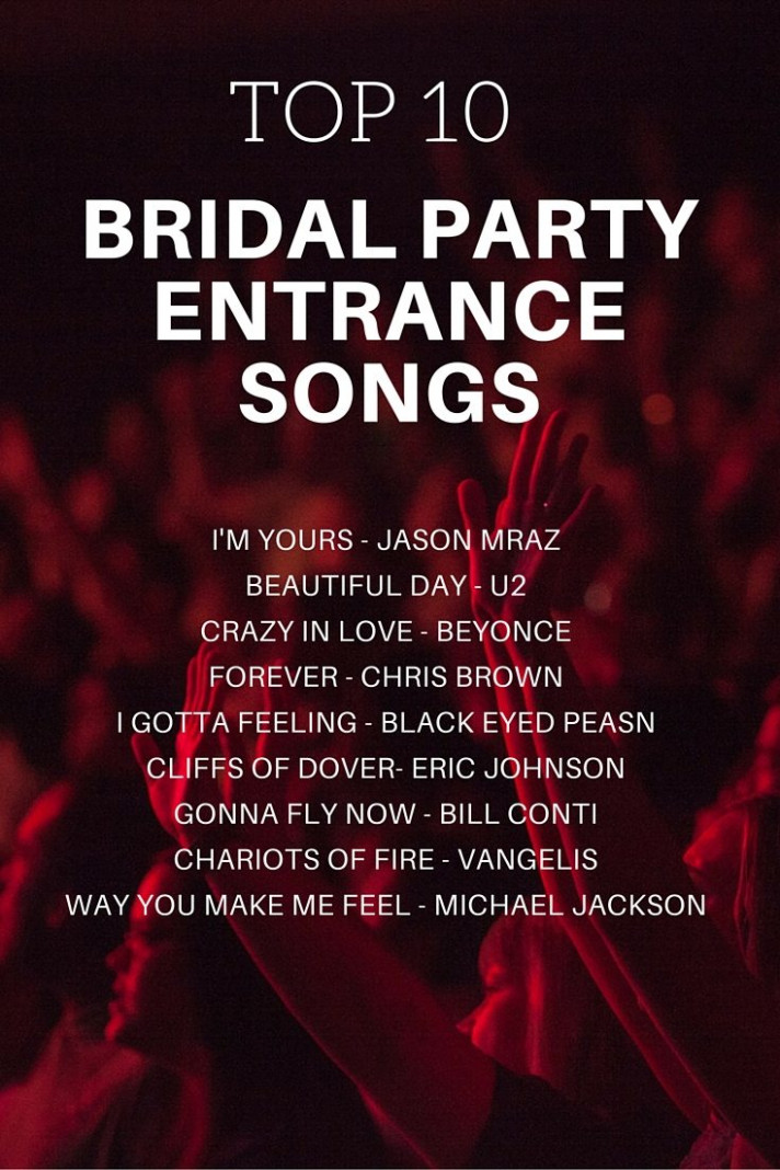 Bridal Party Entrance Songs | | TopWeddingSites.com