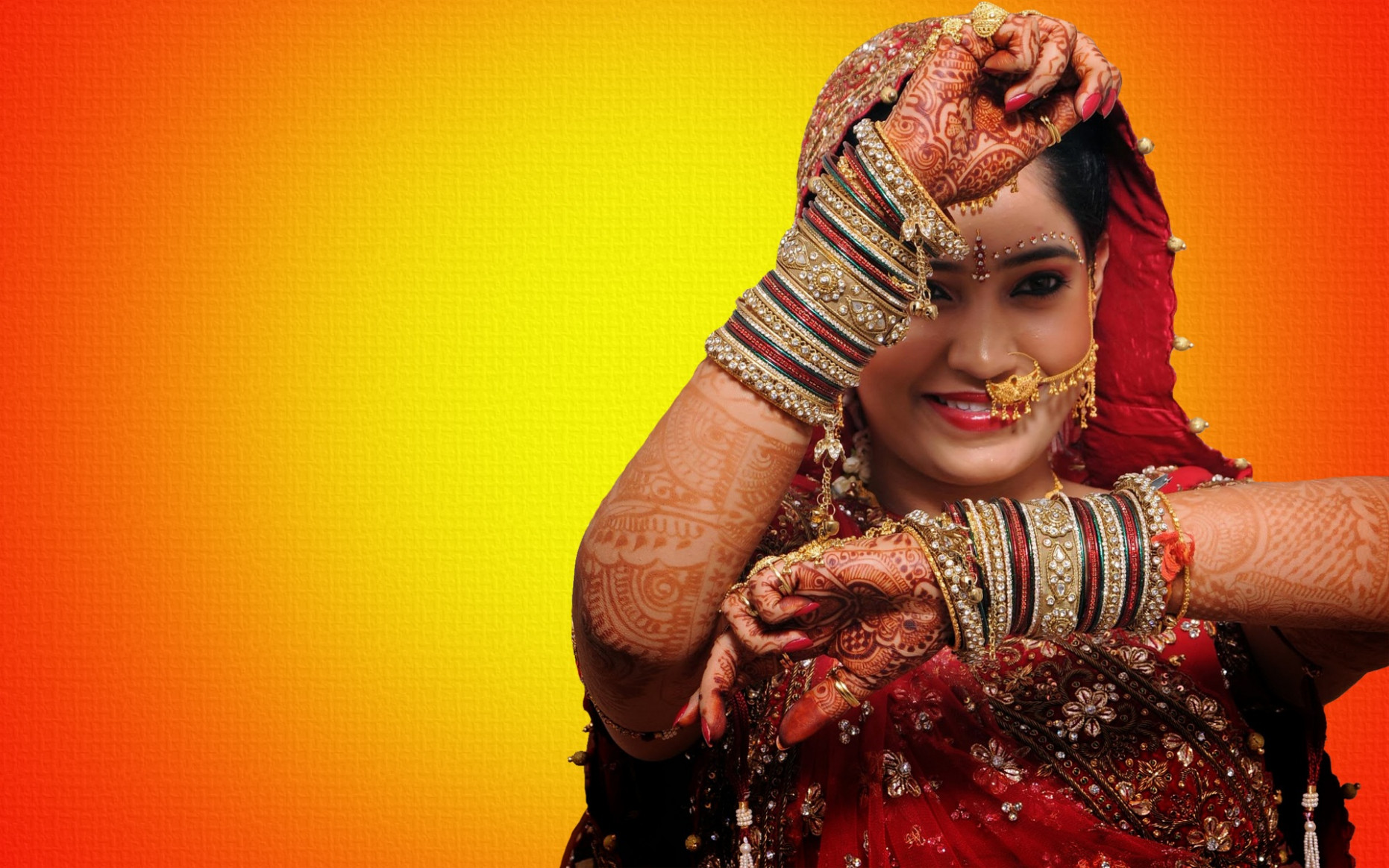 Bridal wedding make up of Indian girl | Beautiful hd wallpaper