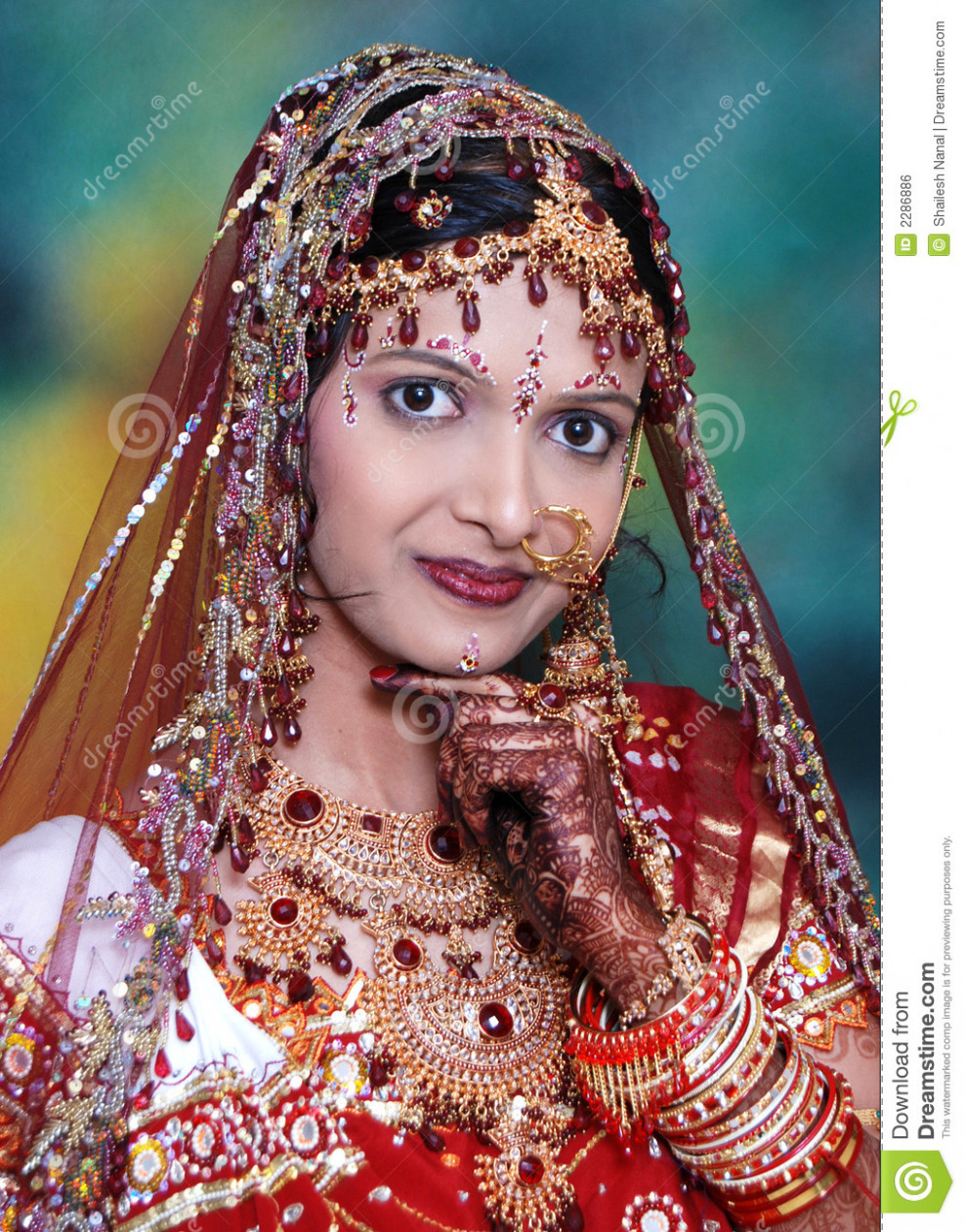 Bright Indian Bride. stock photo. Image of looks, indian ...