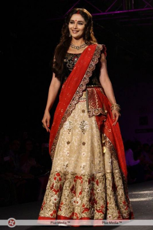 Buy Madhuri Dixit Lehenga Bollywood Replica Online