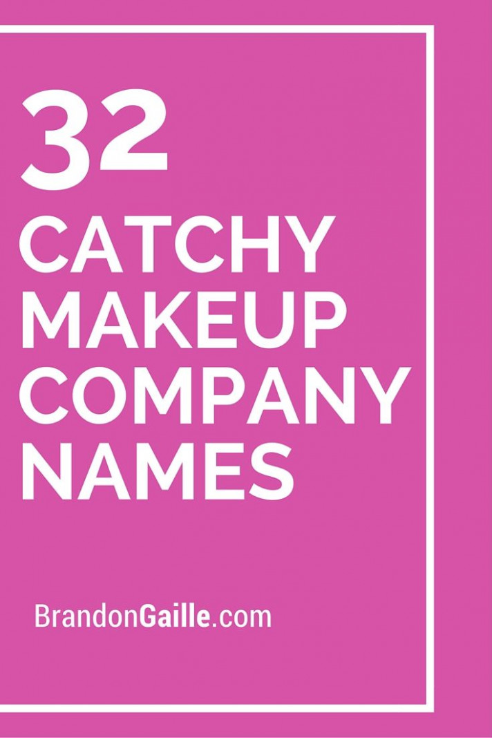 Catchy Names For Makeup Artist Business - Makeup Vidalondon