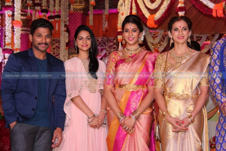Celebs At Tollywood Actor Samrat Wedding Photos