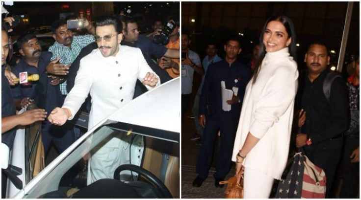 Deepika Padukone and Ranveer Singh leave for their ...