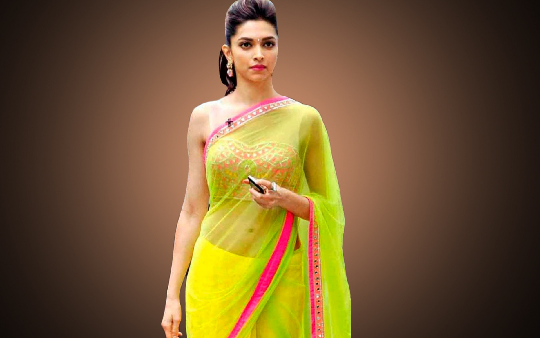 Deepika Padukone Indian actress in saree | Beautiful hd ..