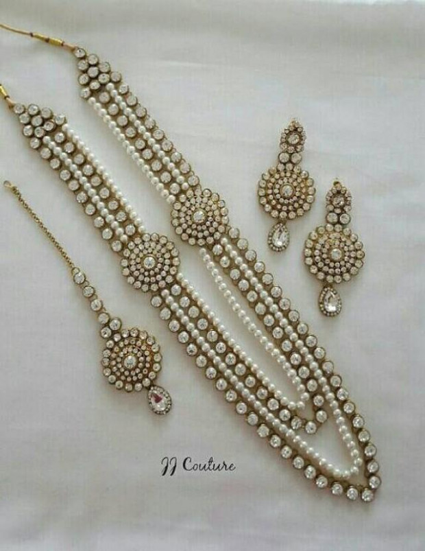 Designer Pearl Kundan Jewelry Set Indian Jewelry Kundan ...