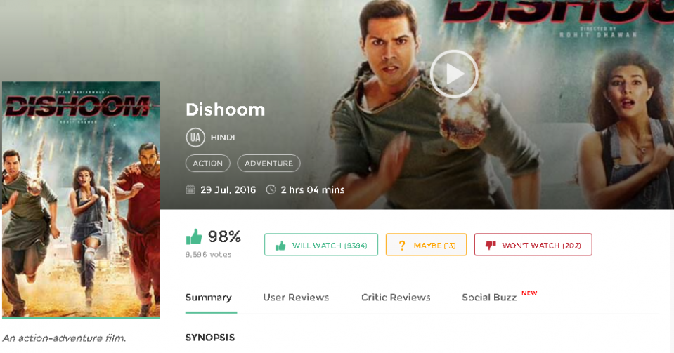Dishoom (2016) Bollywood Movie Download free in HD 720p ...