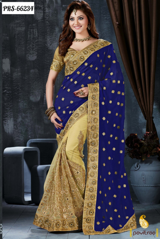 fancy latest designer collection sarees 2016-2017 ...