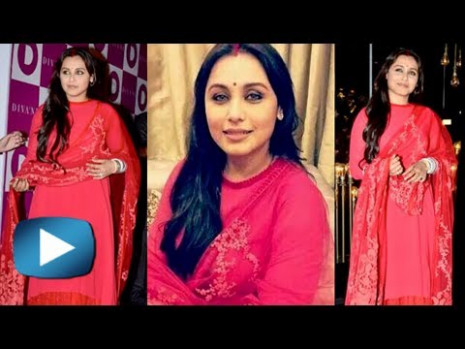 First Look - Rani Mukherjee Post Marriage - Bollywood News ...
