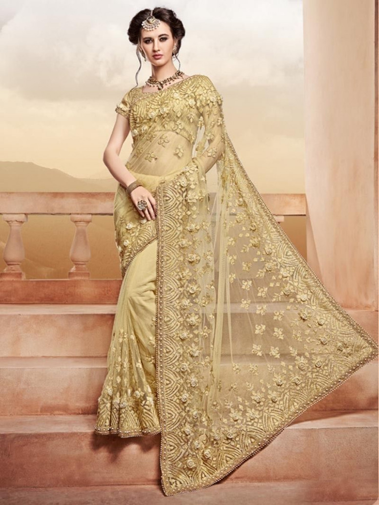 Golden Color Bollywood Designer Indian Pakistani Bridal ...