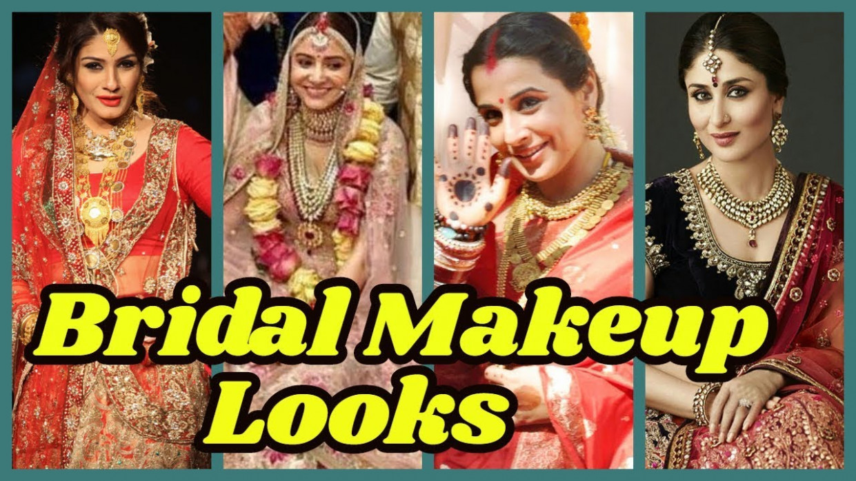 Gorgeous Bridal Makeup Looks Of Bollywood Actress - YouTube