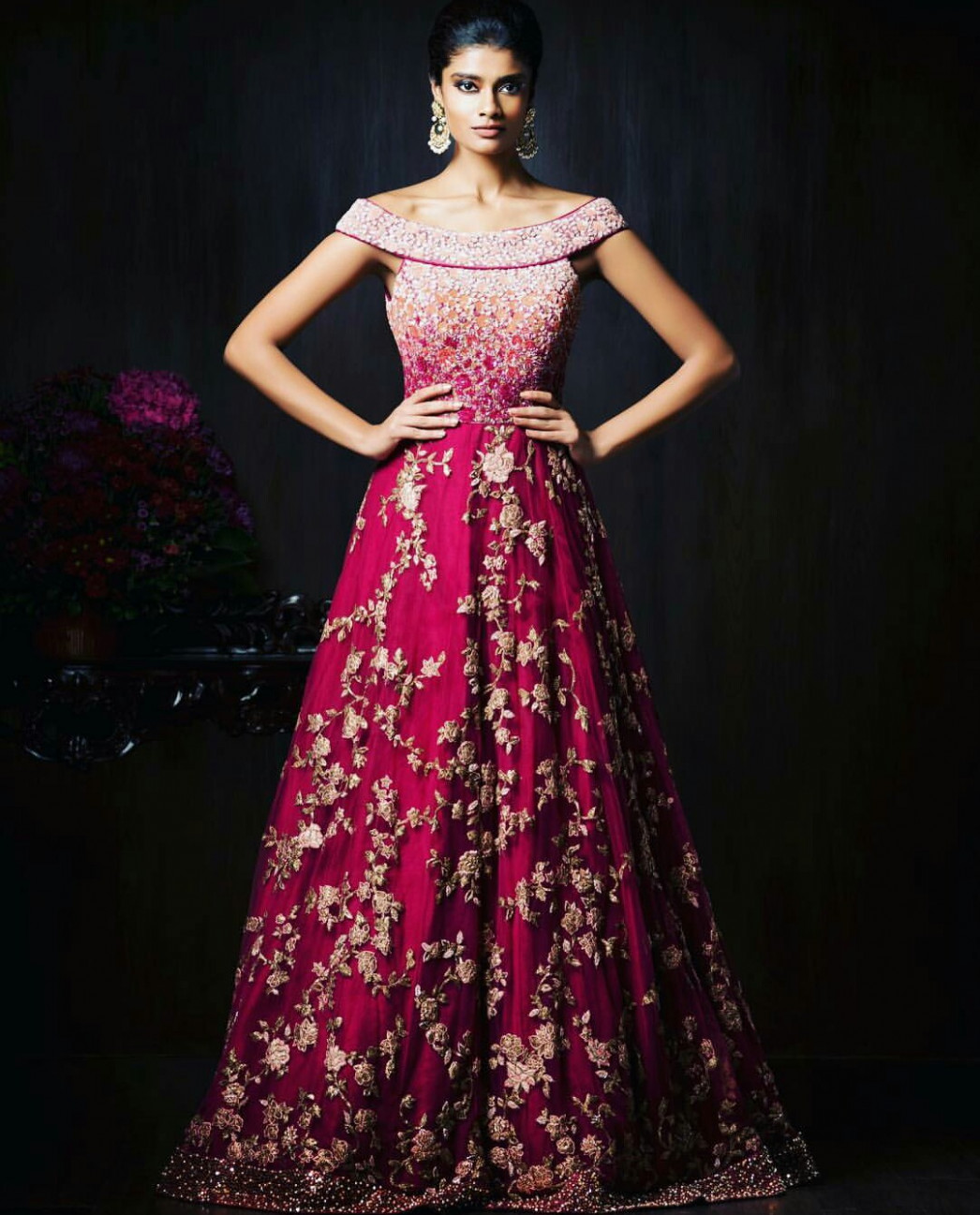 Gorgeous New Indian Reception Gown Styles For Indian Brides