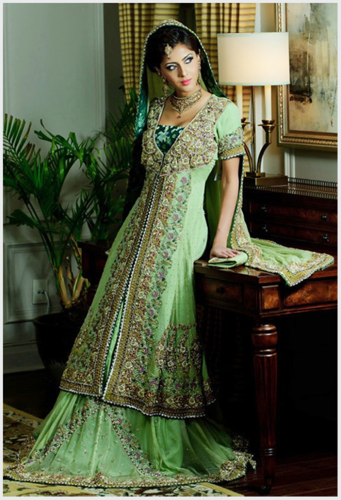 Green Indian Bridal Wear | www.pixshark.com - Images ...