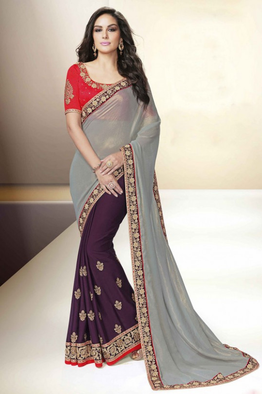 Grey Sarees | Saree Designs