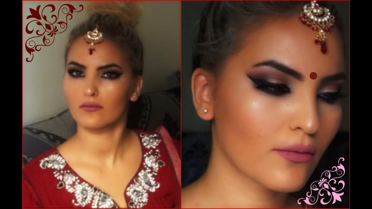 "GRWM for Eid ""Bollywood smokey eye make up"" لوك بوليودي ..."