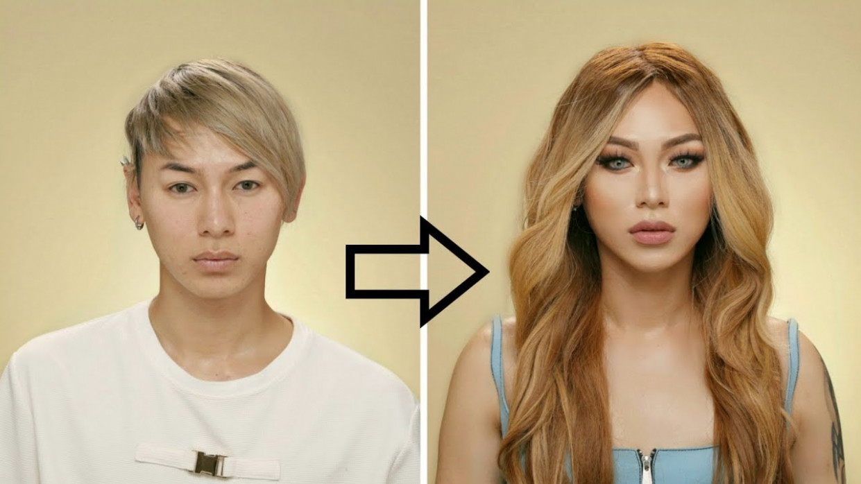 Guy to Girl Makeup Transformation