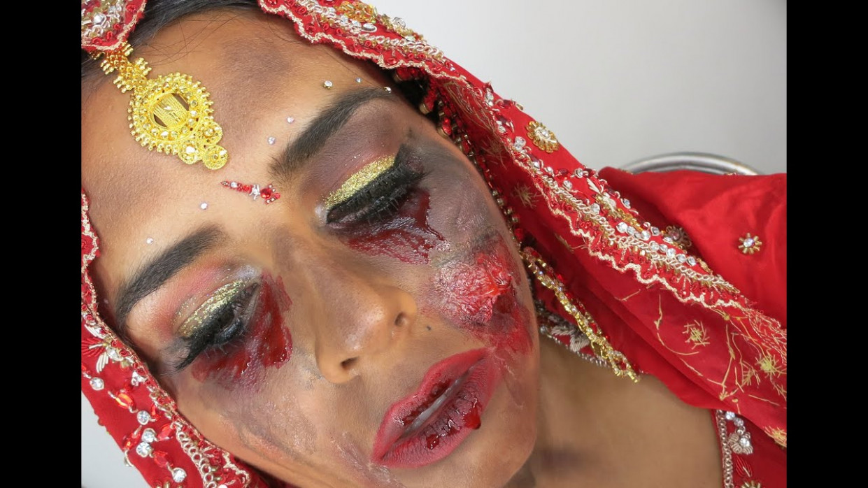 Halloween - Indian Bridal Makeup - Bollywood Zombie Bride ...