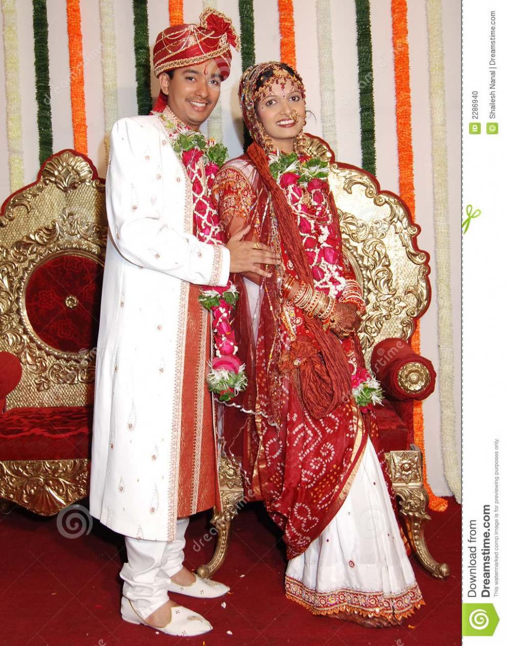 Happy Indian Marriage stock photo. Image of smart ...