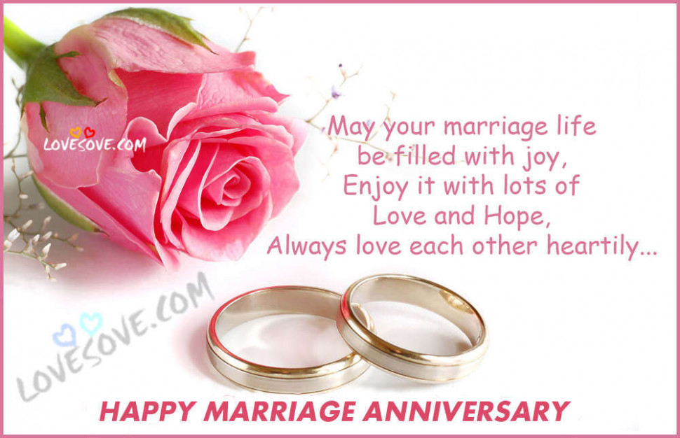 Happy Marriage Anniversary Hindi Status, Wishes Images ...