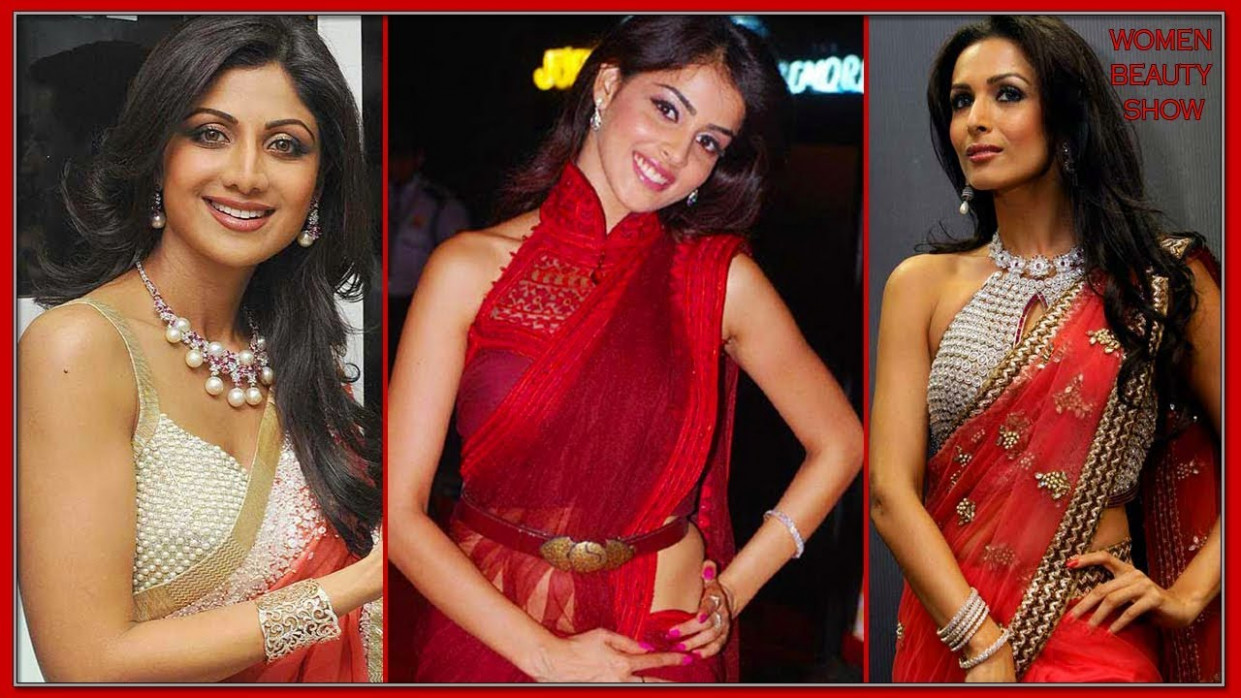 Hot Bollywood Actress in Transparent Saree - Bollywood ...