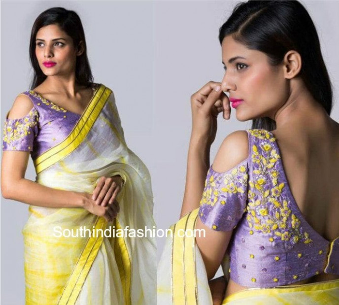 Hottest Trend: Cold Shoulder Saree Blouse Designs – South ...
