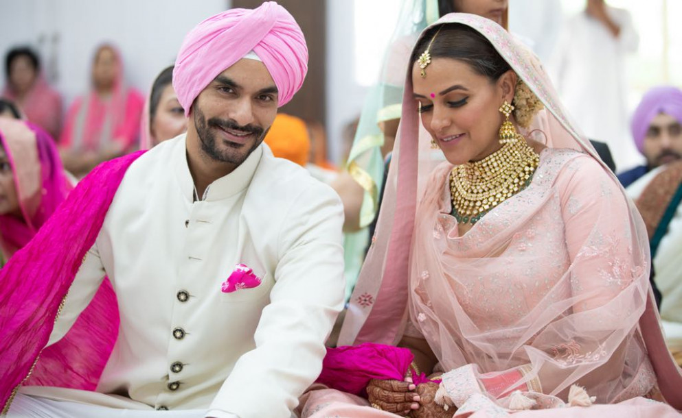 In Pics: Neha Dhupia Marries Angad Bedi in Private ...