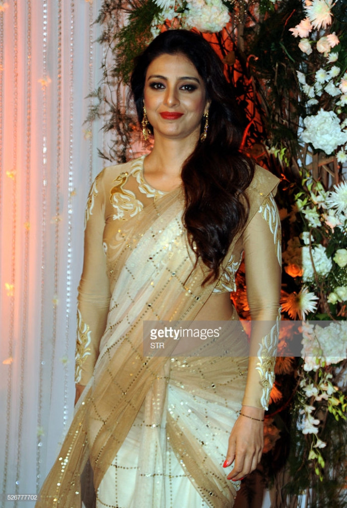Indian Bollywood actress Tabu poses as she attends a ...