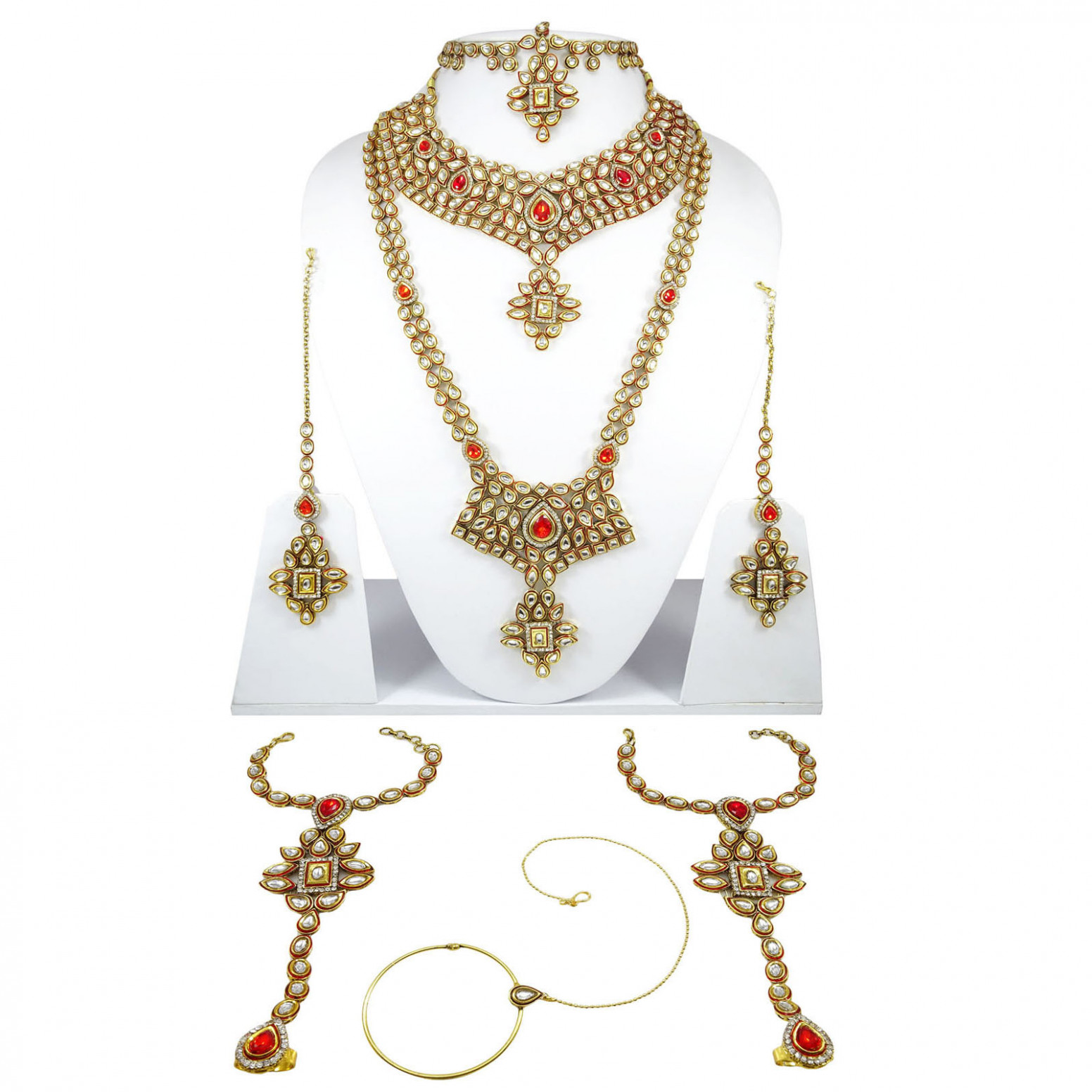 Indian Bollywood Designer Bridal Wedding Necklace Set ...