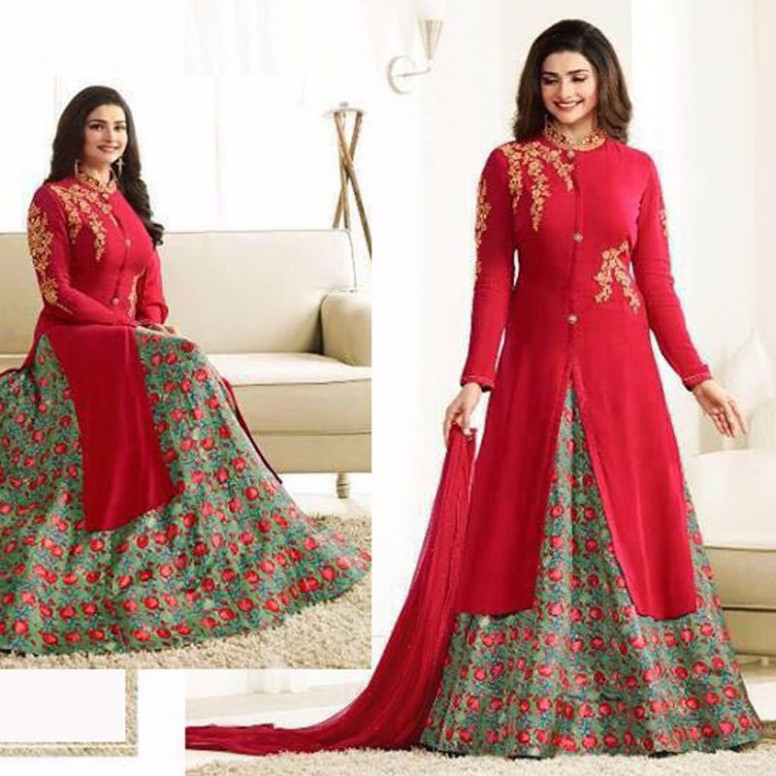 Indian Bollywood Designer Wedding Party Anarkali Lehenga ...