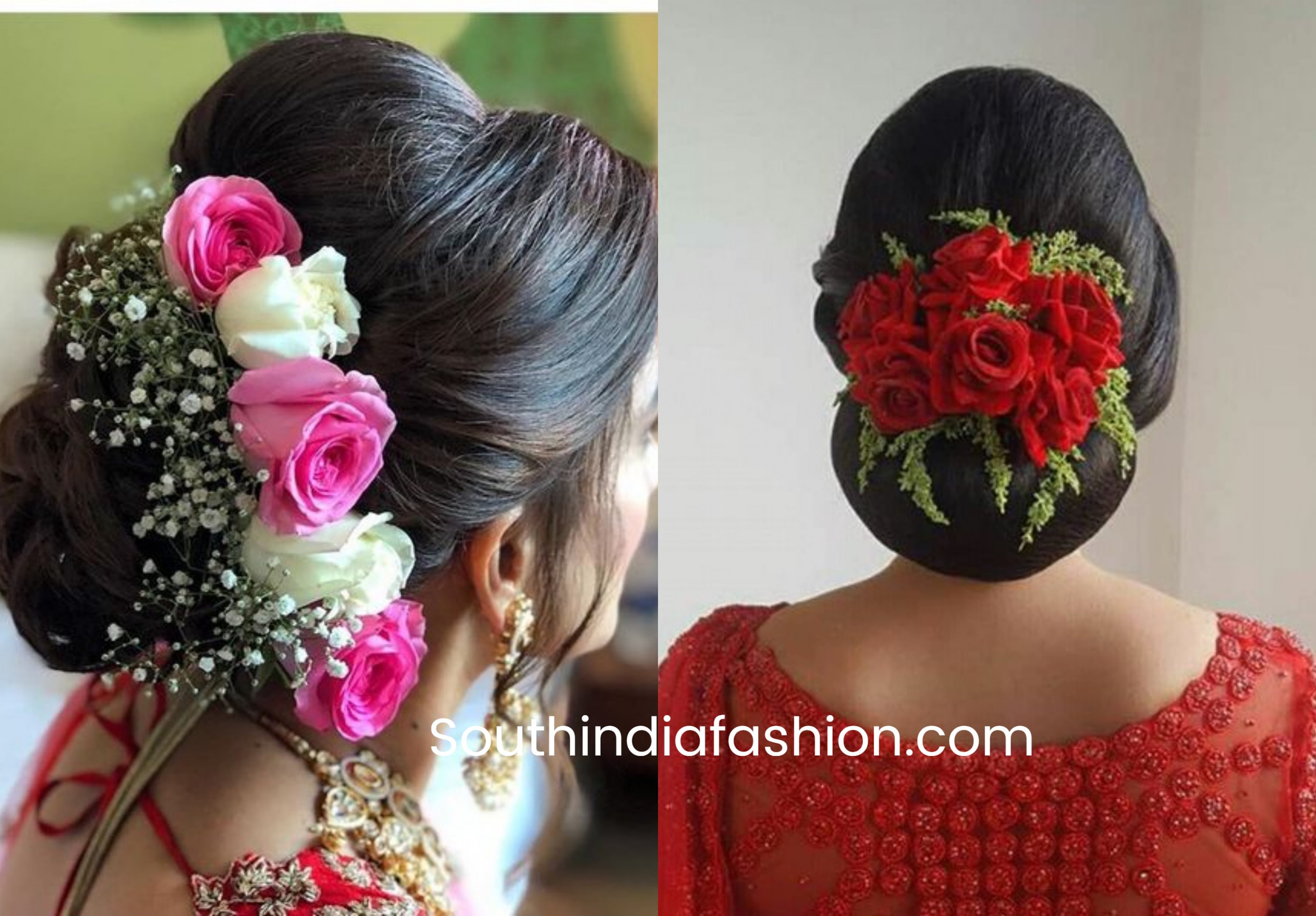 Indian Bridal Bun Hairstyles With Flowers! | AnekhNews
