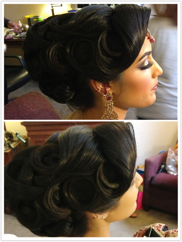 Indian bridal hair | South asian bridal hairstyles ...