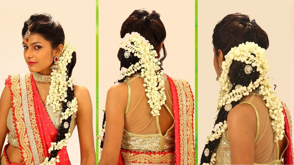 Indian Bridal Hairstyle Step By Step - South Indian Bridal ...