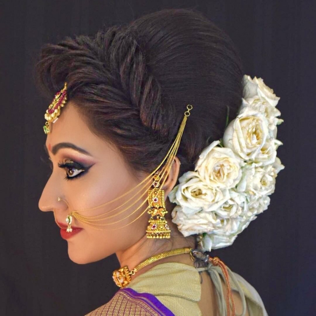 Indian Bridal Hairstyle With Puff | Fade Haircut