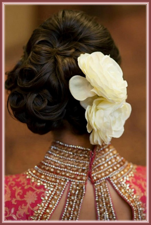 indian bridal hairstyles for reception (7) - HairzStyle ...