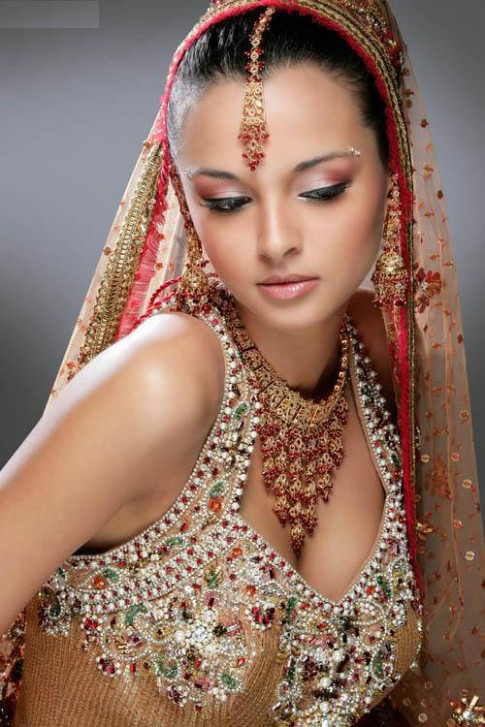 Indian Bridal Hairstyles Photos and Videos ~ Dresses Shoes