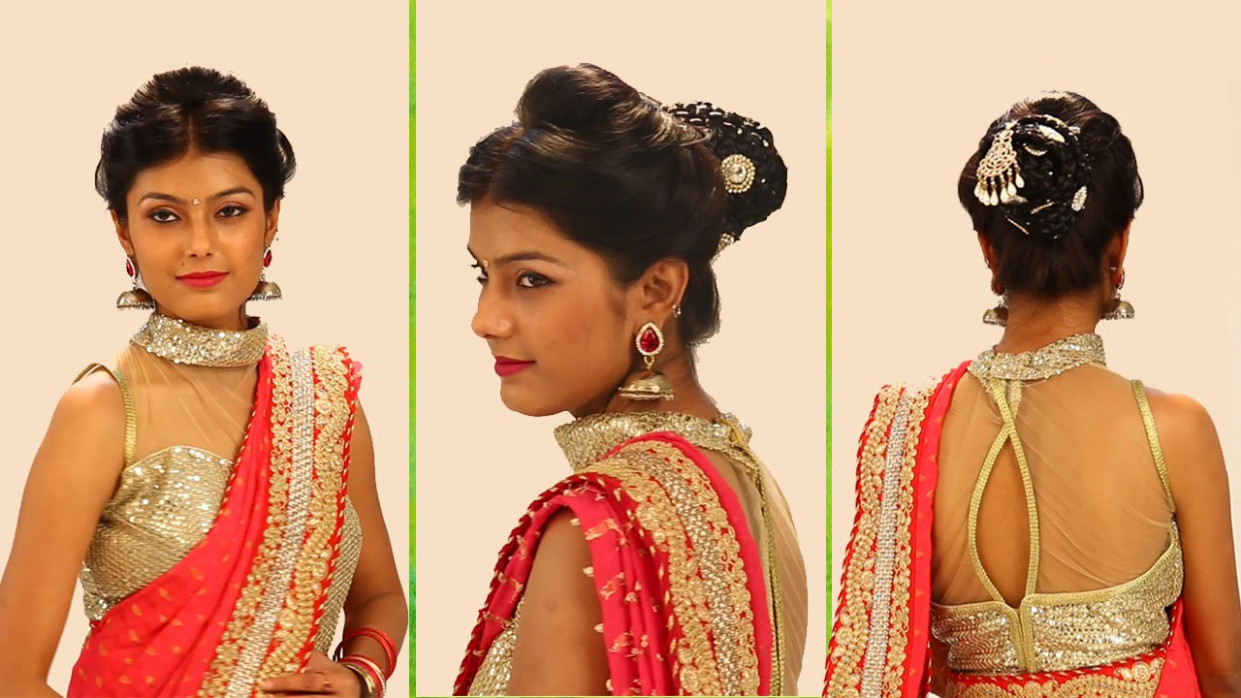Indian Bridal Hairstyles Step By Step - Simple & Bridal ...