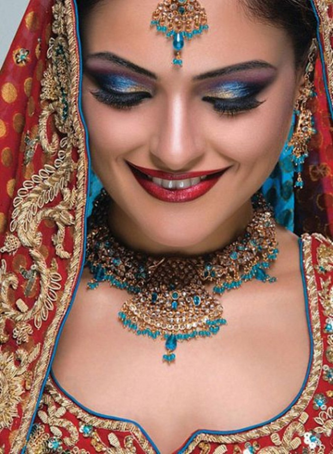 Indian Bridal Jewellery and Makeup Photos | Funkidos.com