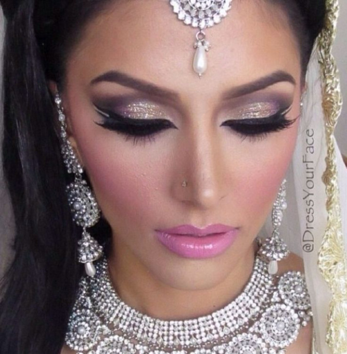 Indian Bridal Makeup Tutorial with Pictures and Steps - indian bridal eye makeup step by step