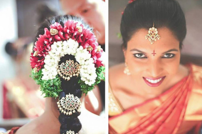 indian bridal reception makeup with hairstyle